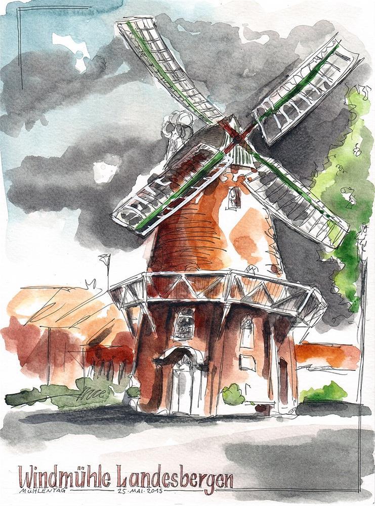 """1378 Mill Day '15"" original fine art by Dietmar Stiller"