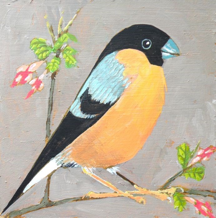 """Goldfinch"" original fine art by Toni Goffe"