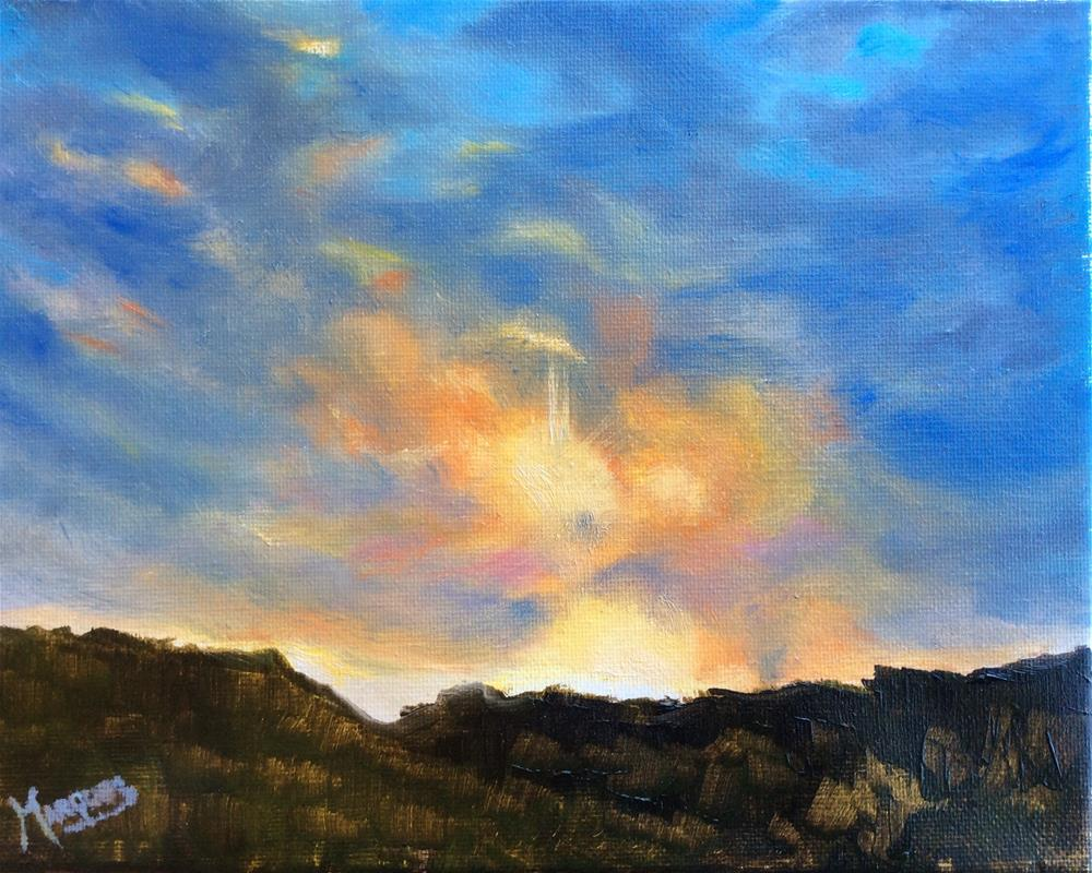 """Sunset II"" original fine art by Kathy Marques"