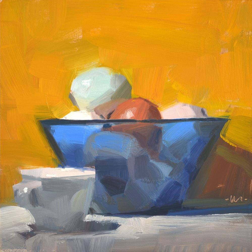 """Side View Eggs"" original fine art by Carol Marine"
