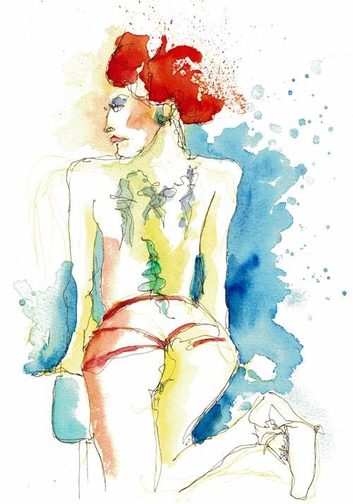 """""""2538 Tronicat Back"""" original fine art by Dietmar Stiller"""