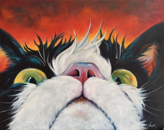 """TURBULENCE 16x20"" original fine art by Olga Wagner"
