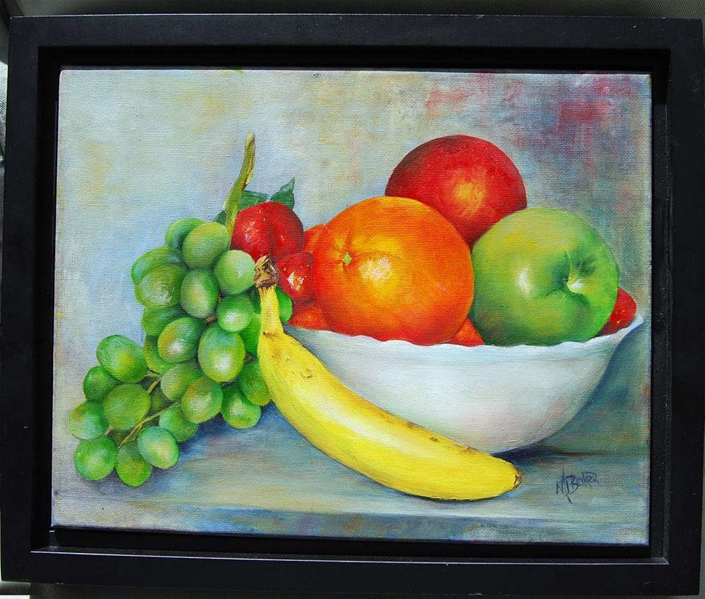 """""""Fruit Bowl"""" original fine art by Maureen Baker"""