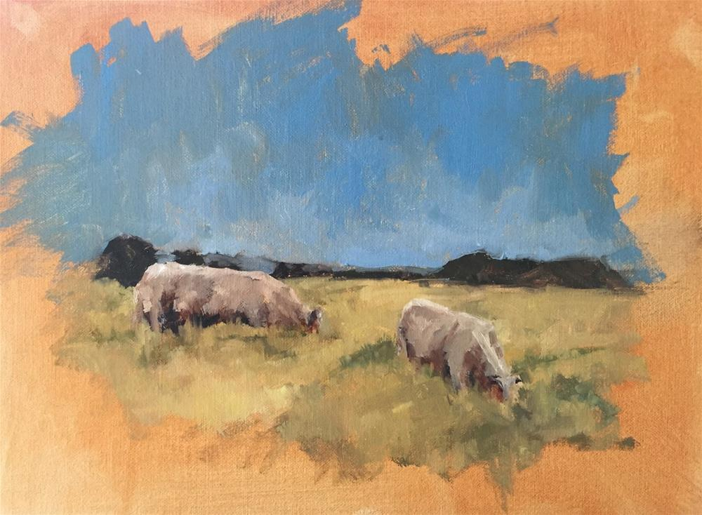 """Study - cattle"" original fine art by Julie Davis"