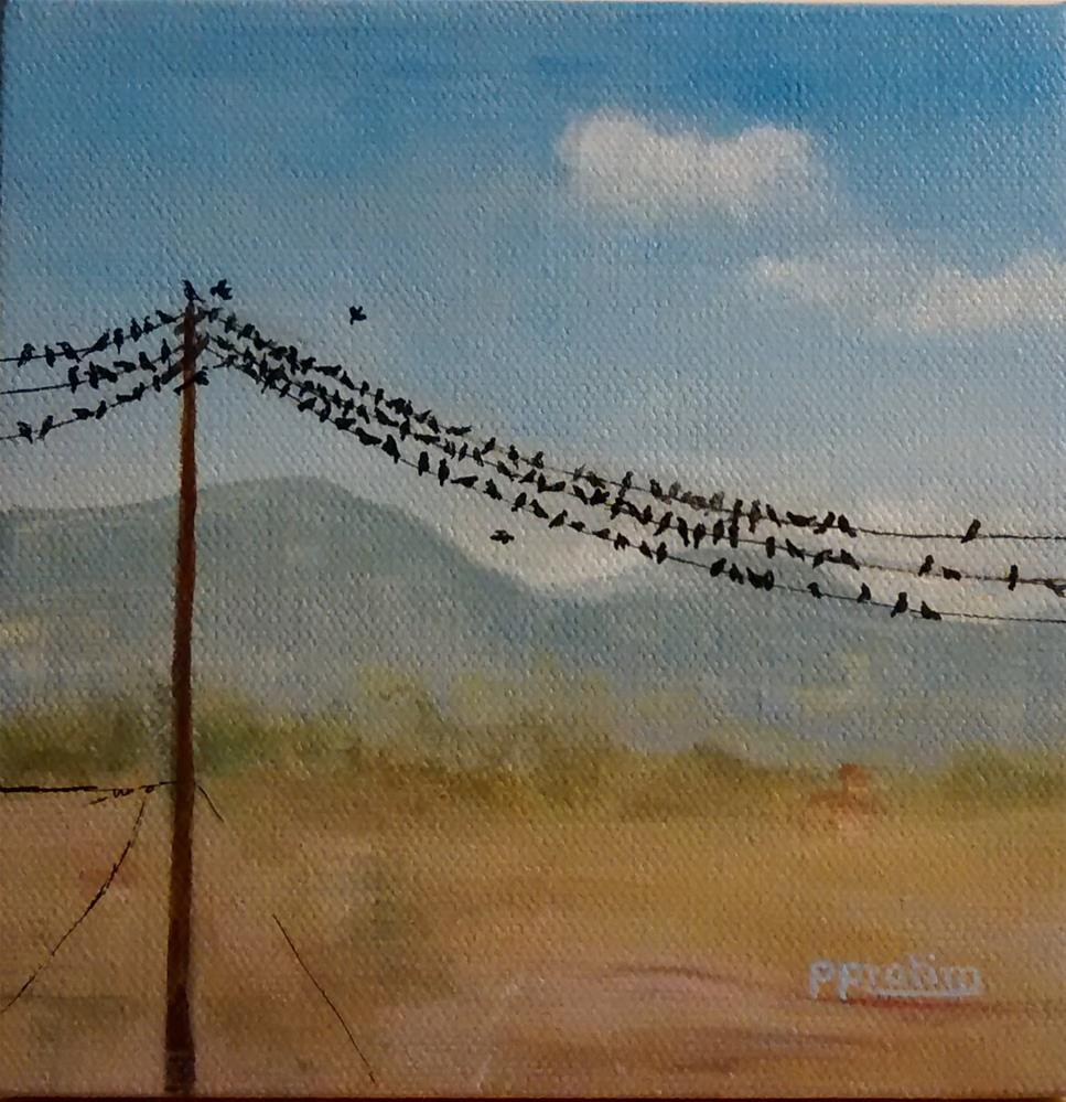 """High sky congregation"" original fine art by Pratima Patel"