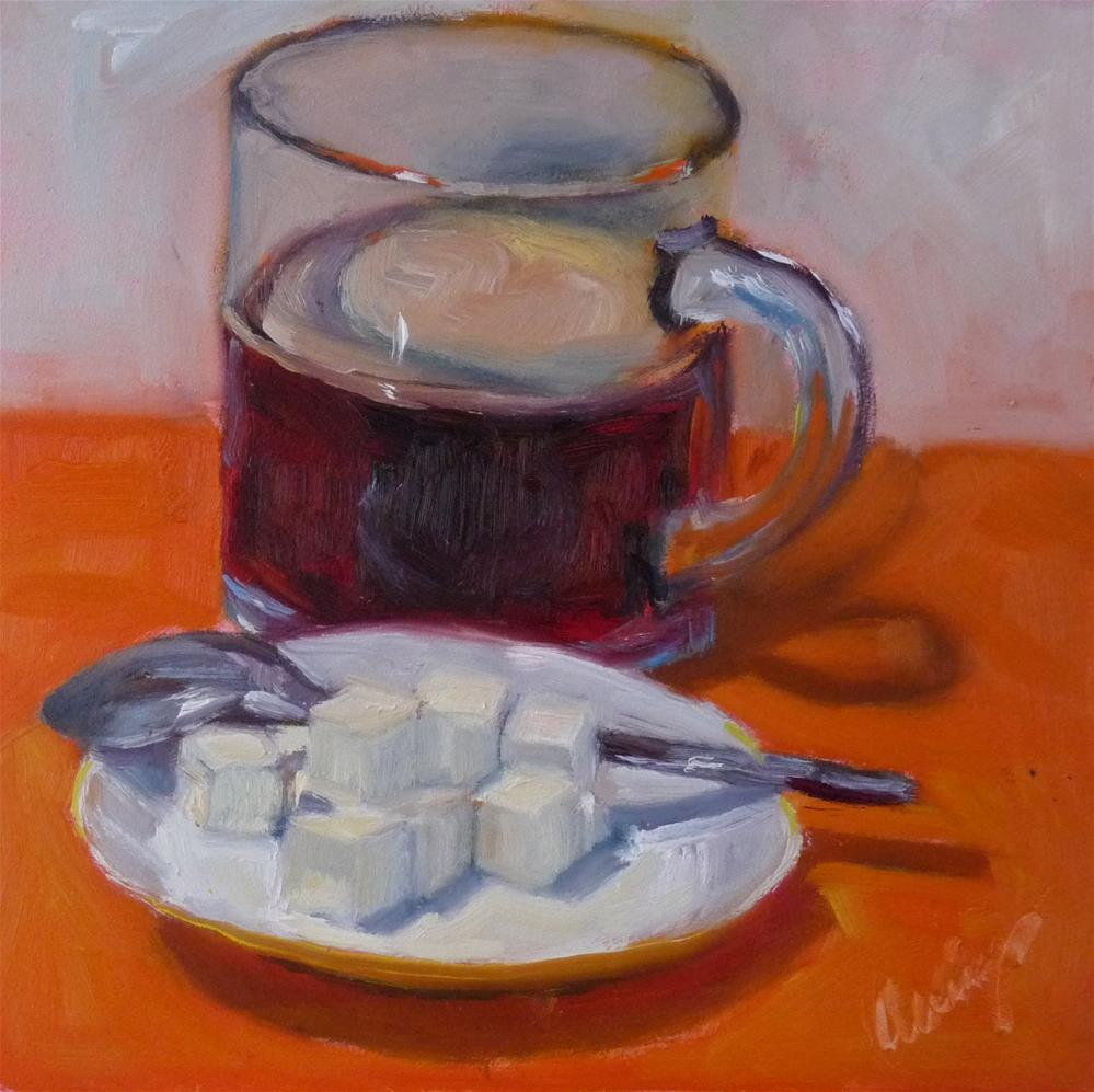 """""""One Lump or Two?"""" original fine art by Sharman Owings"""