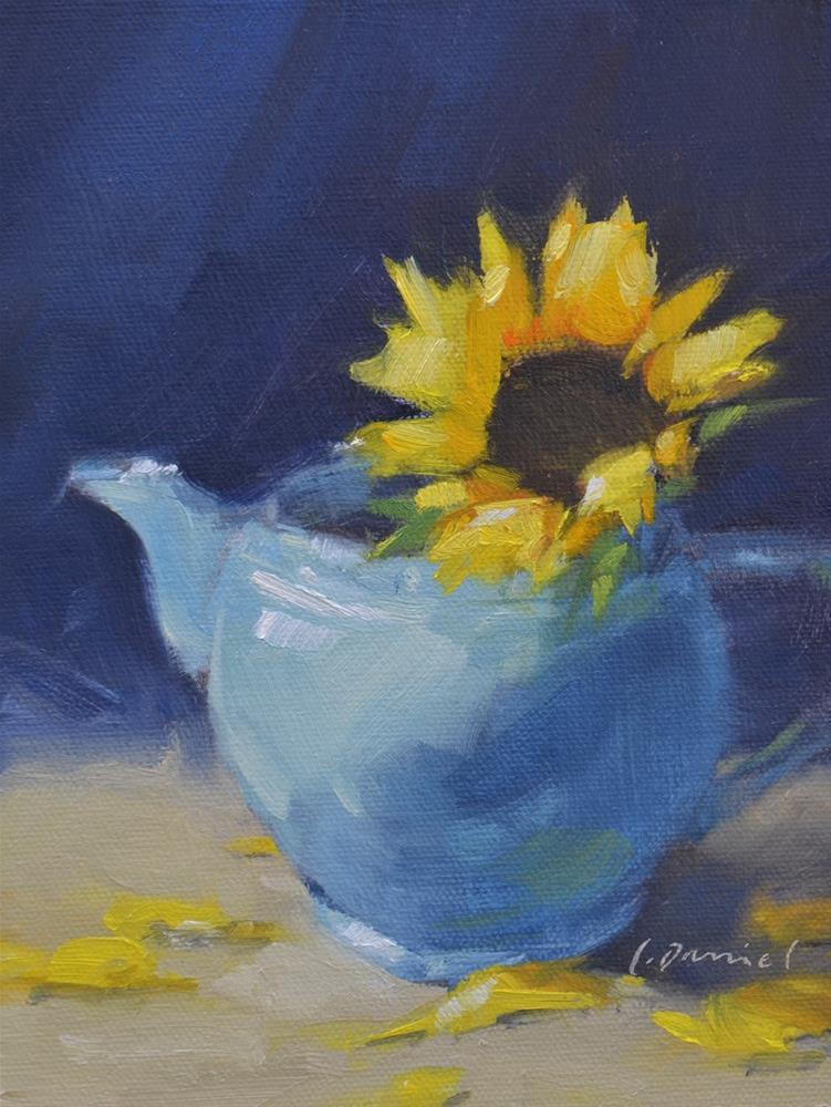 """Sunflower Morning - Twenty-nine of 30 in 30"" original fine art by Laurel Daniel"