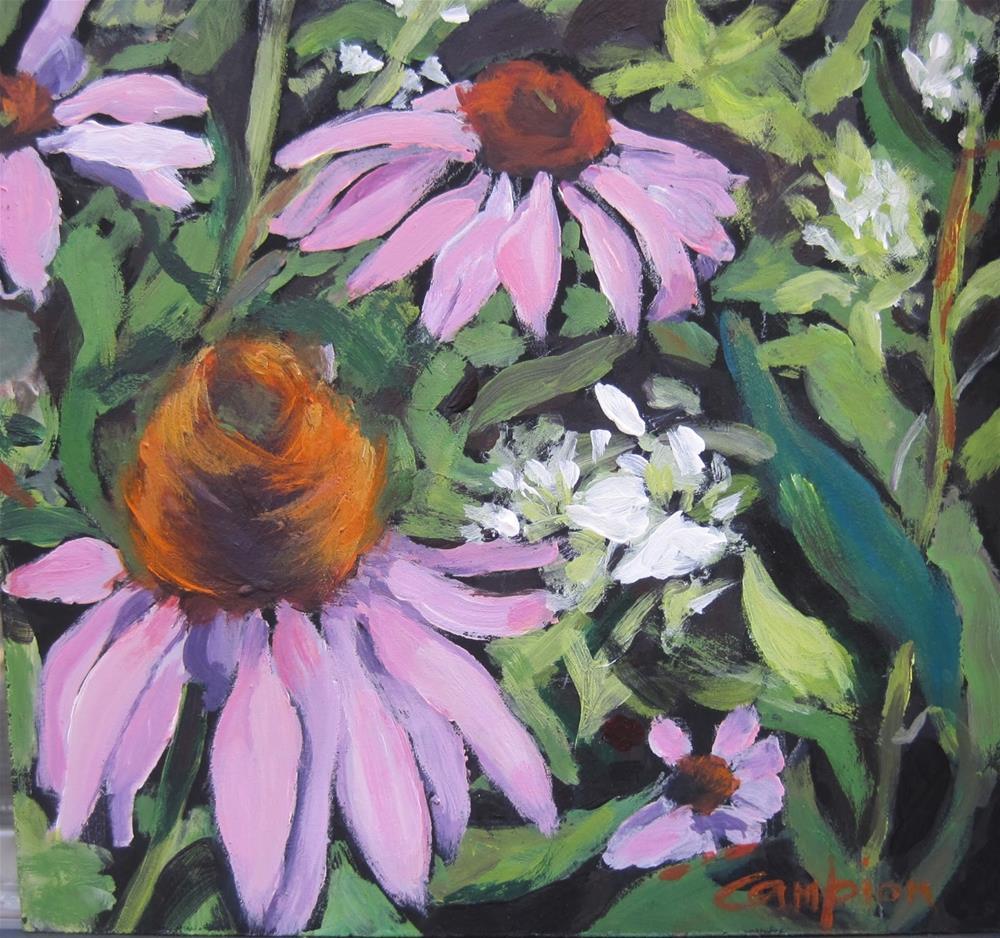 """144 Humming"" original fine art by Diane Campion"