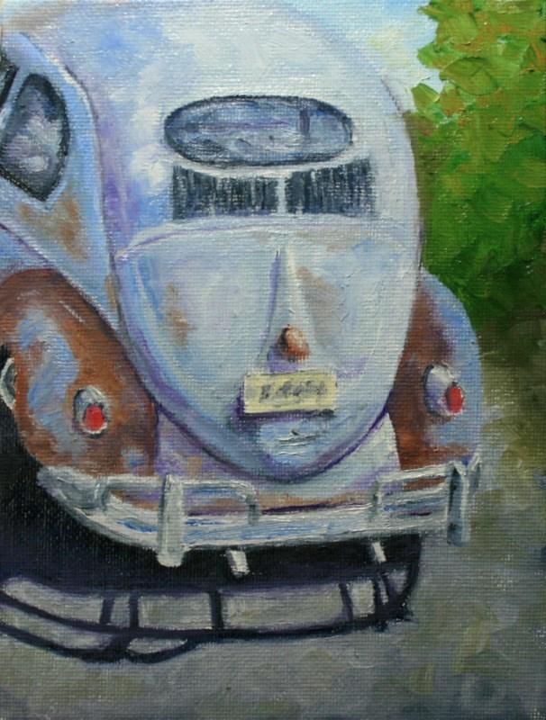 """""""Trusty Rusty"""" original fine art by Jean Nelson"""