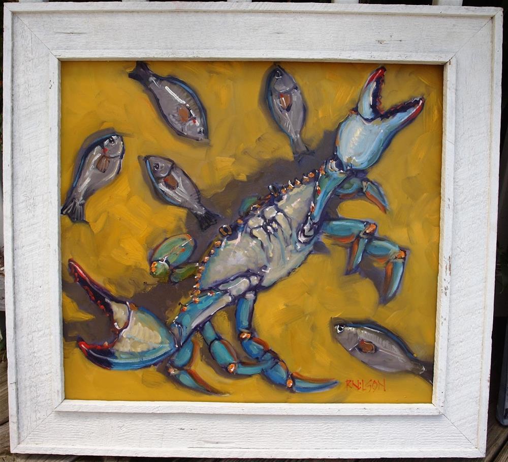 """""""The Last Fair Deal Goes Down"""" original fine art by Rick Nilson"""