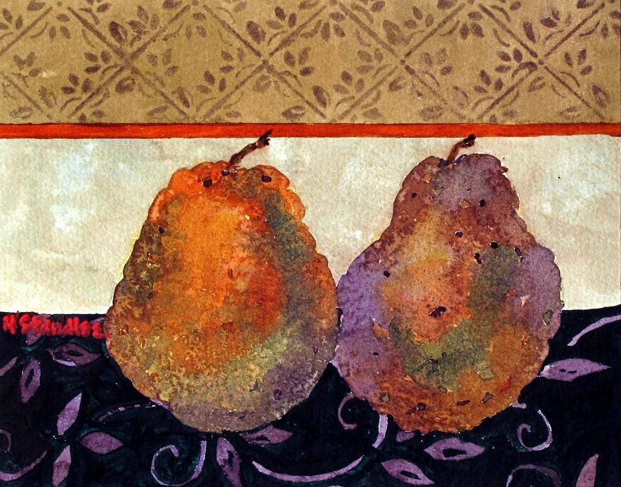 """Pears 1 11104"" original fine art by Nancy Standlee"