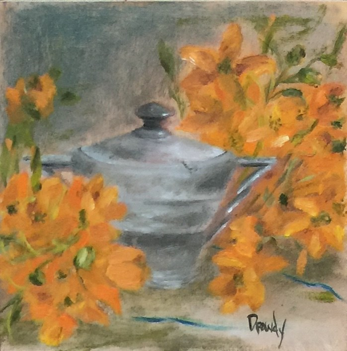 """Czechoslovakian Sugar Bowl"" original fine art by Stephanie Drawdy"