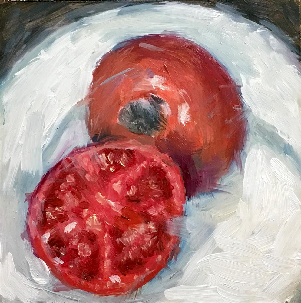 """""""108 Red Tomato"""" original fine art by Fred Bell"""