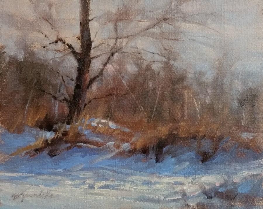 """""""Winter Rhythyms"""" original fine art by Barbara Jaenicke"""