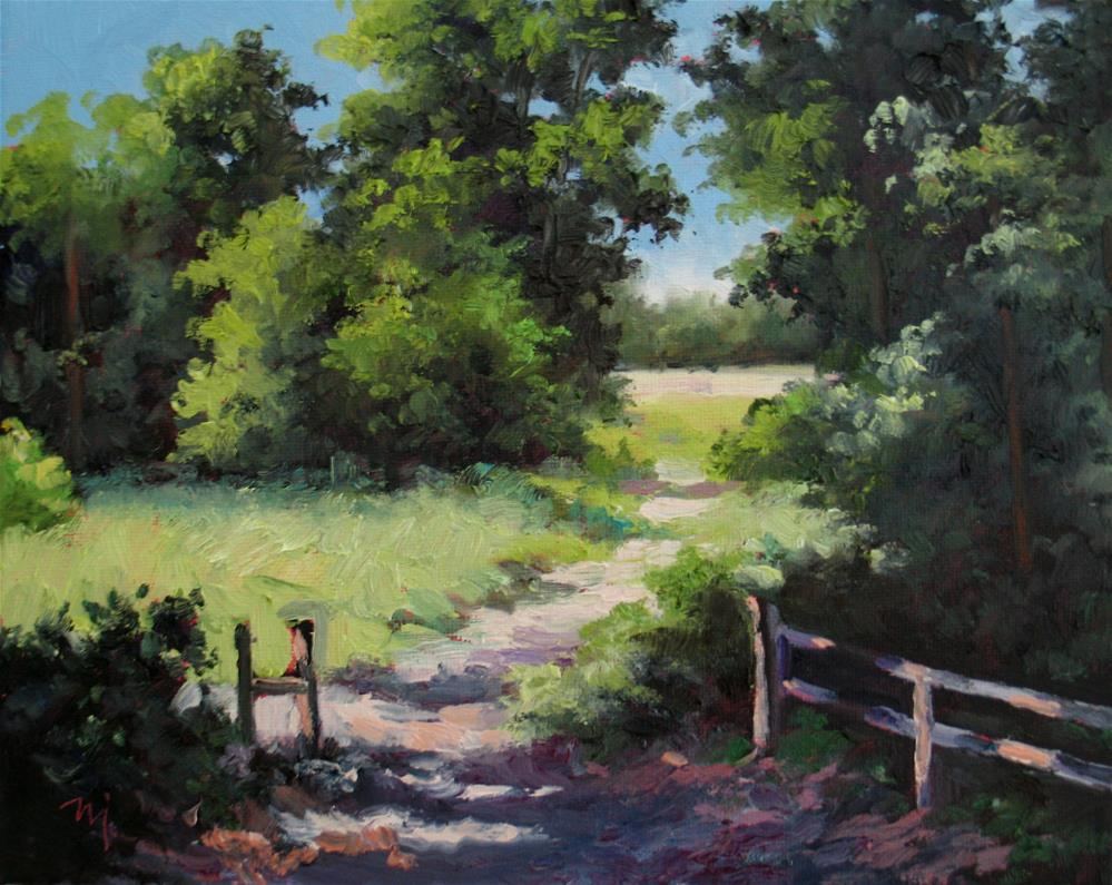 """A Summer Day in June"" original fine art by Nel Jansen"