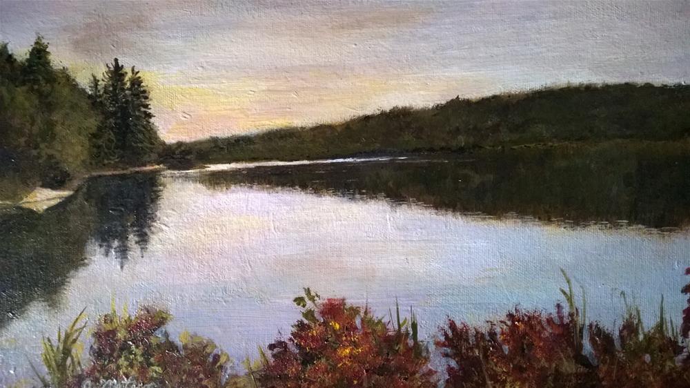 """Autumn River View"" original fine art by Joan Matero"