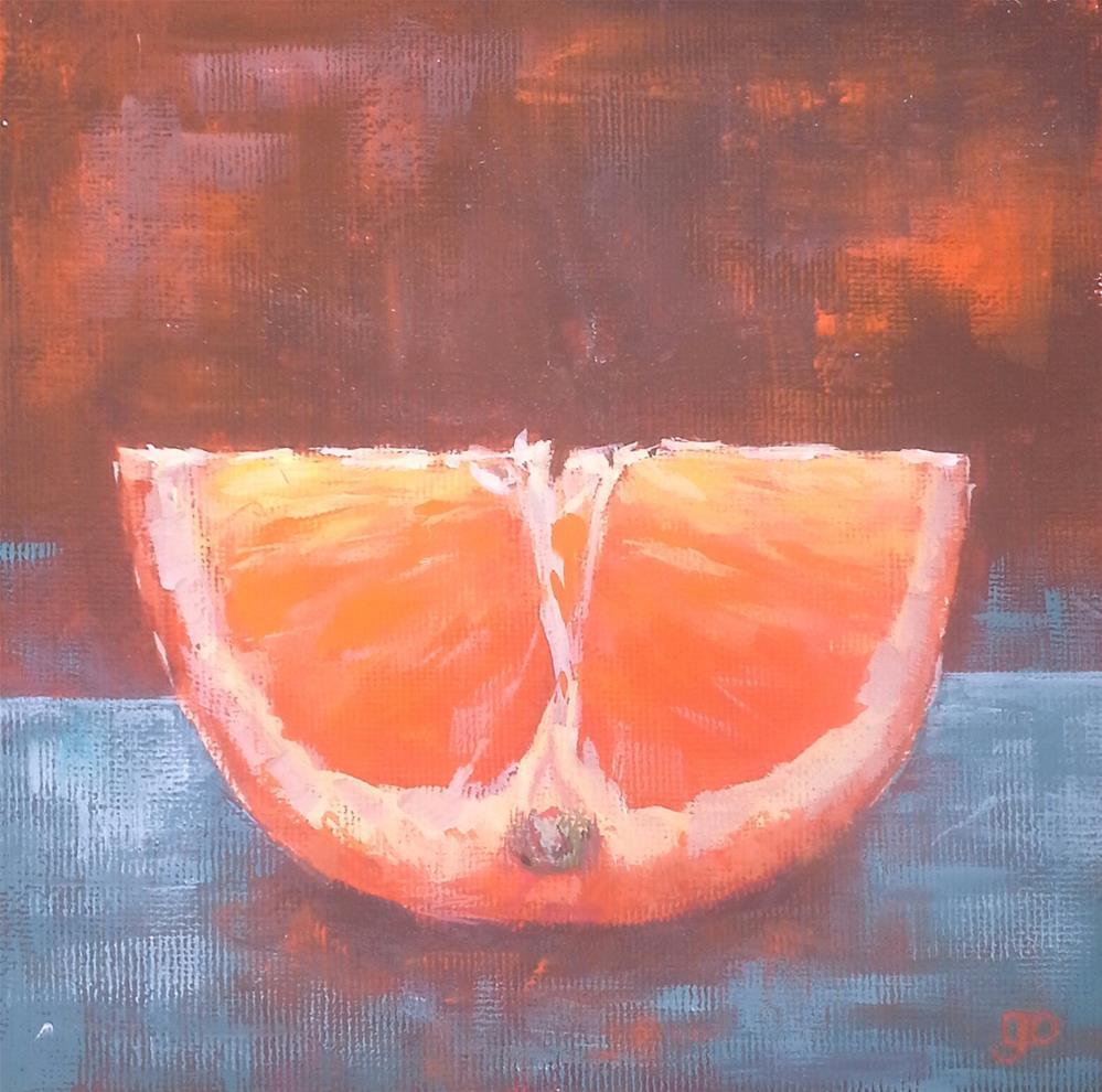 """Orange Crush"" original fine art by Leanne Owen"