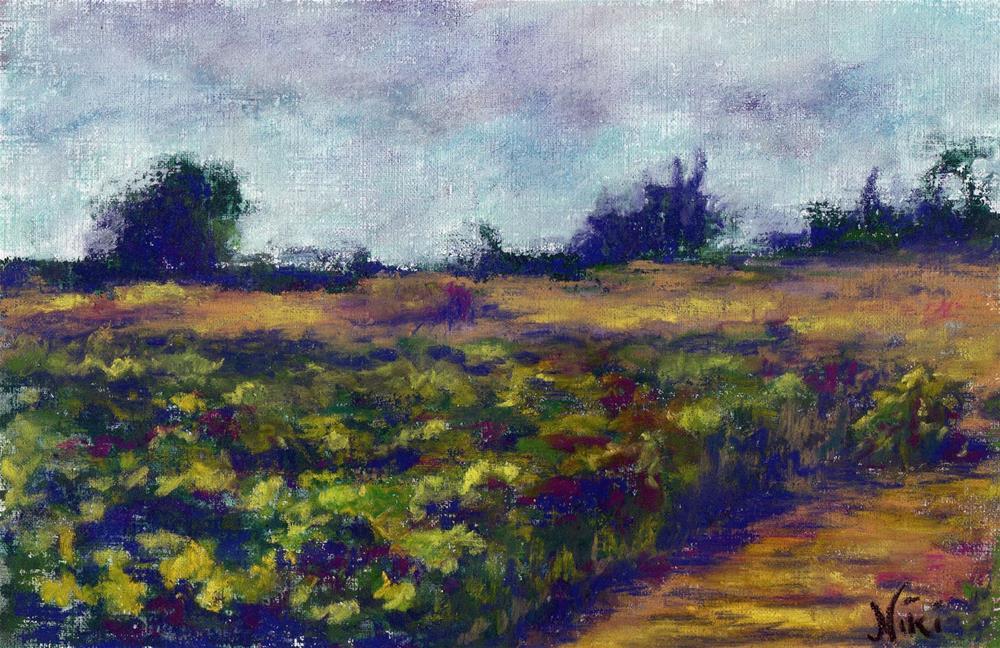 """Fallbrook Field"" original fine art by Niki Hilsabeck"