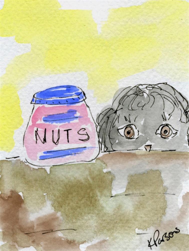 """Going Nuts"" original fine art by Kali Parsons"