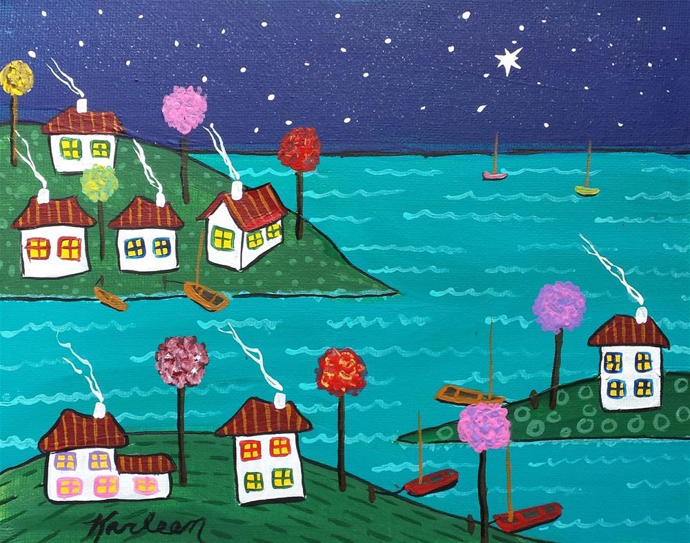 """A Chilly Night on the Coast"" original fine art by Karleen Kareem"