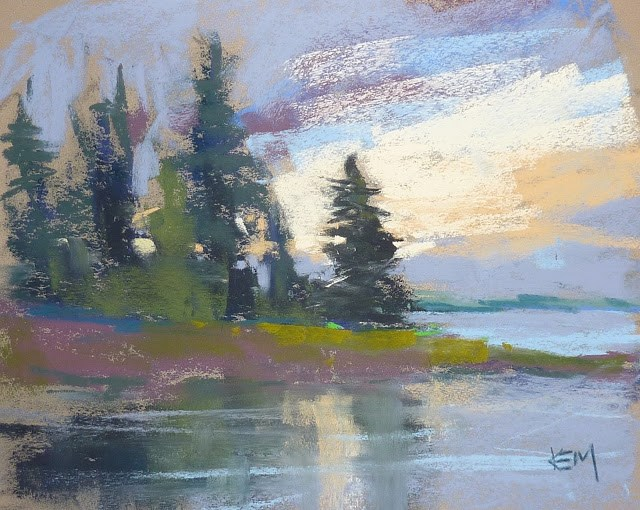"""How Weather Changes a Plein Air Painting"" original fine art by Karen Margulis"