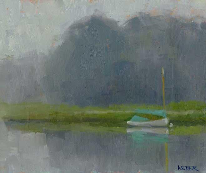 """Foggy morning"" original fine art by Kathy Weber"