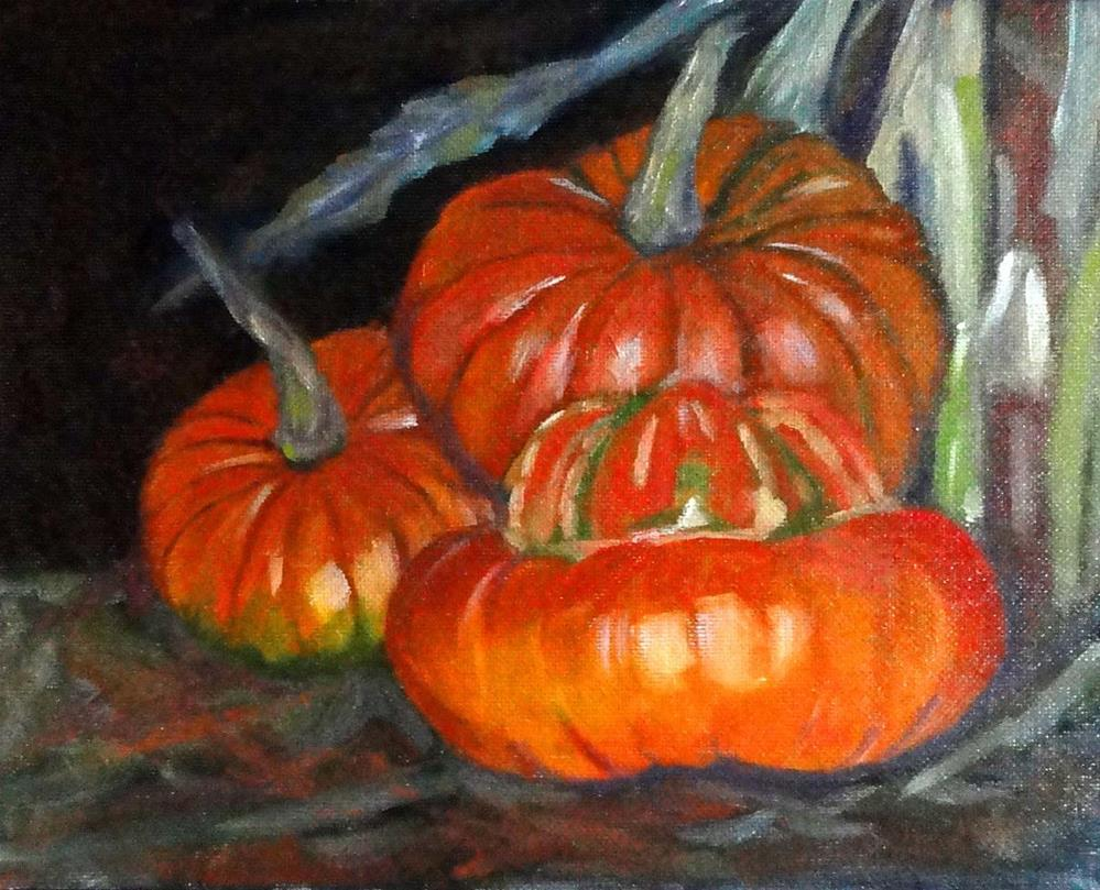 """Pumpkin Harvest"" original fine art by Cietha Wilson"