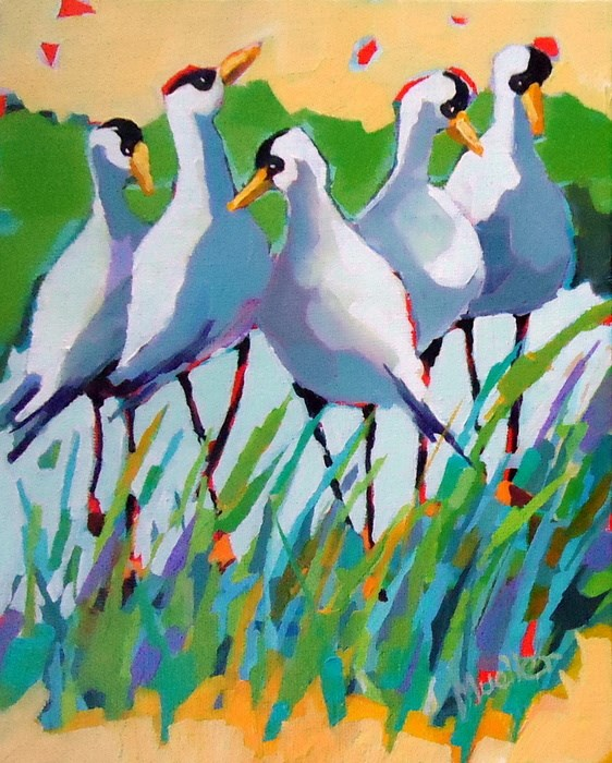 """""""There's Something In the Air"""" original fine art by Laurie Mueller"""