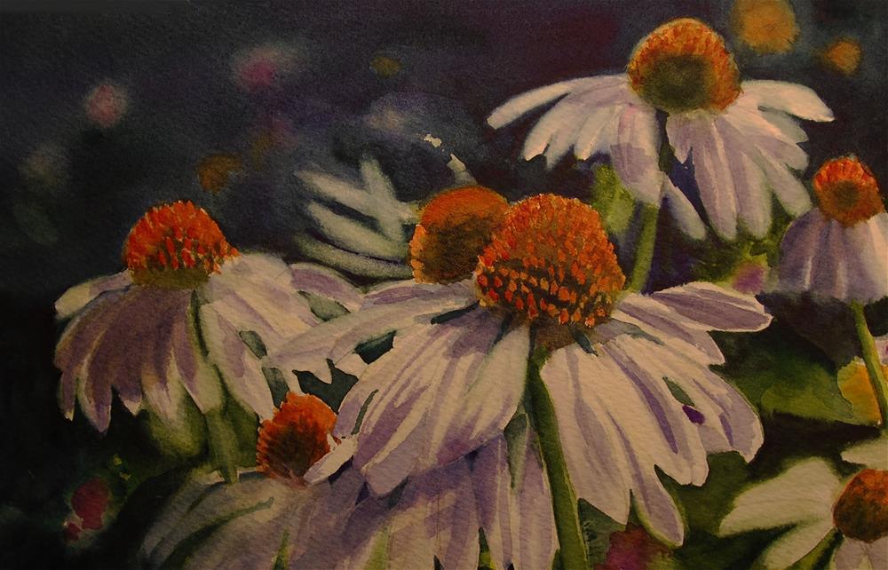 """Street Flowers"" original fine art by Mary Anderson"