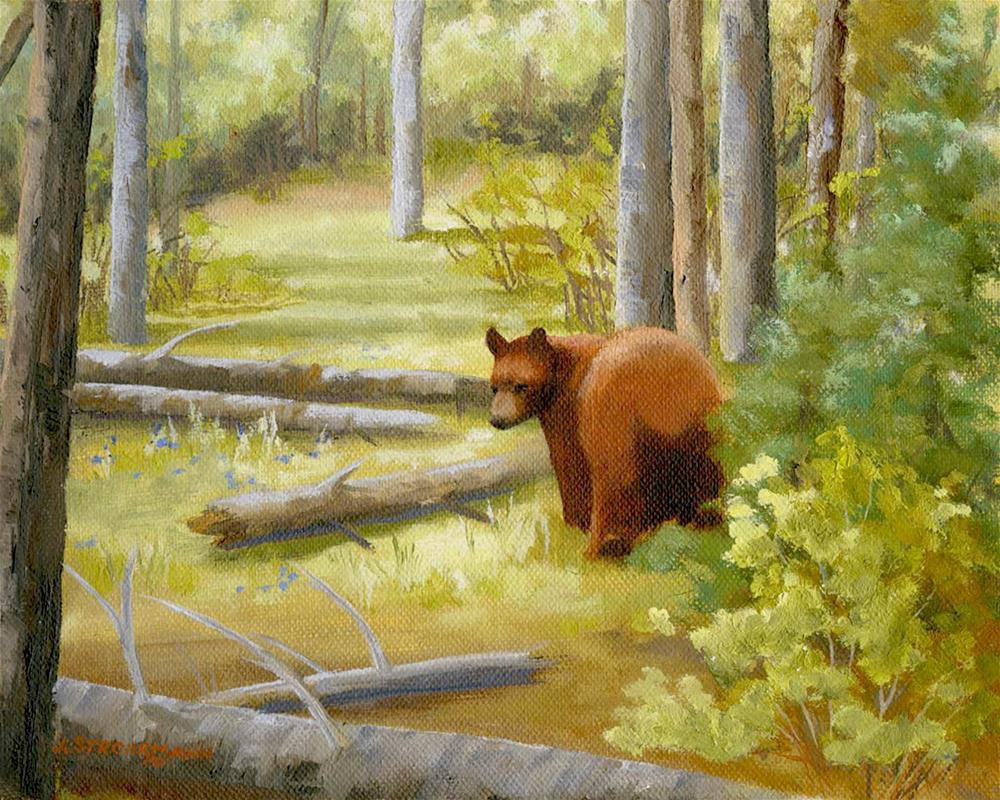 """Don't Move, I'm Still Painting"" original fine art by Jeanne Strohrmann"