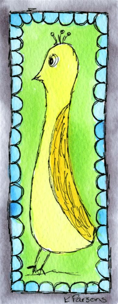 """Tall and Yellow"" original fine art by Kali Parsons"