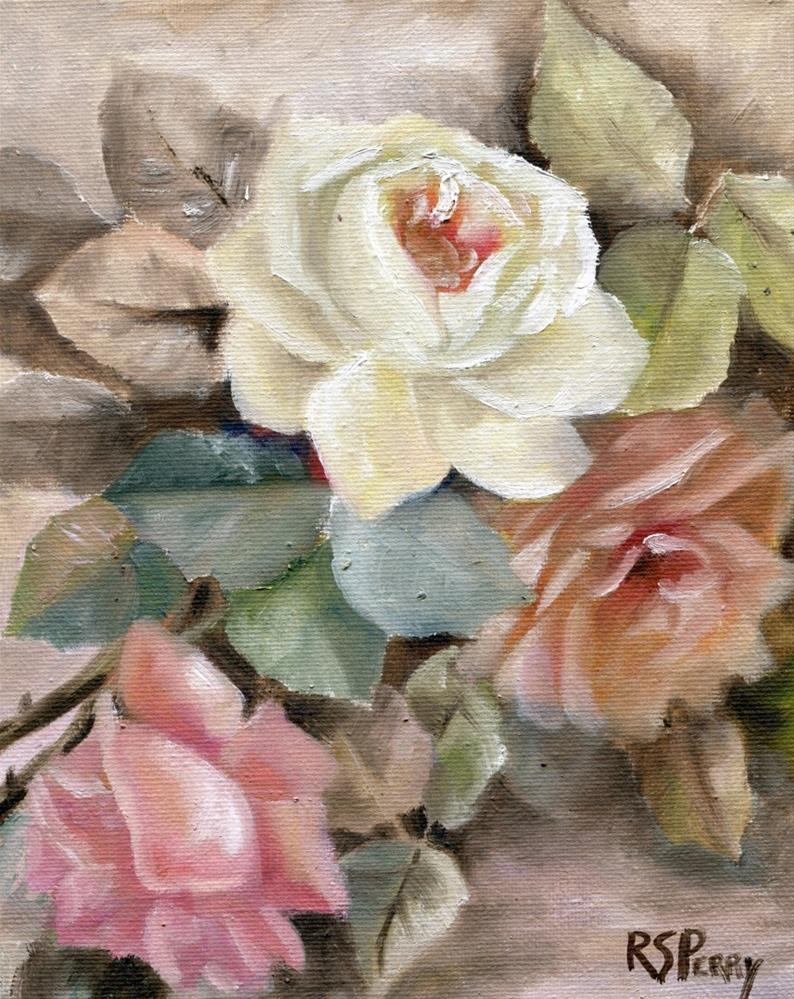 """Rose Romance"" original fine art by R. S. Perry"