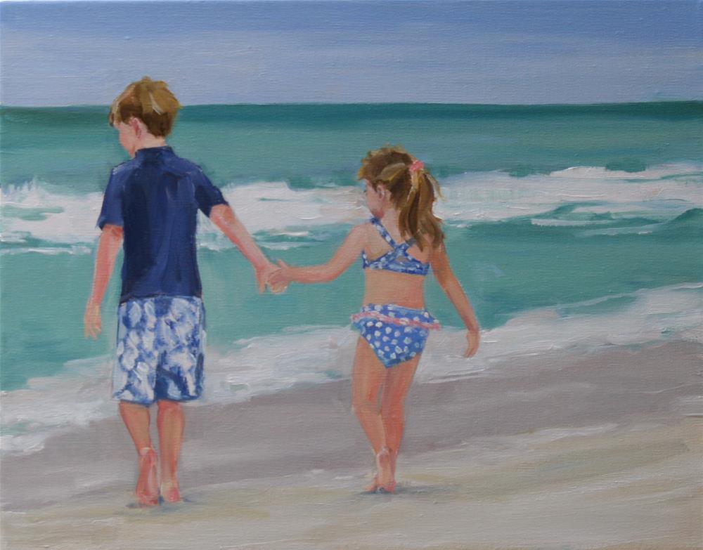"""hold tight"" original fine art by Carol Carmichael"