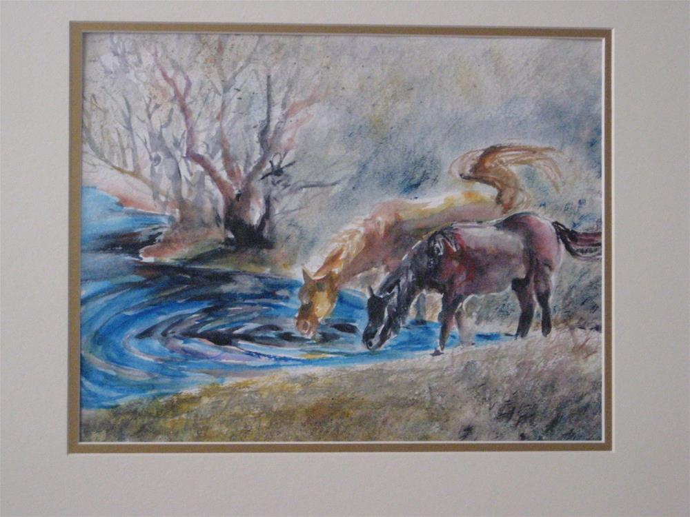 """""""Horses"""" original fine art by Wenqing Xu"""