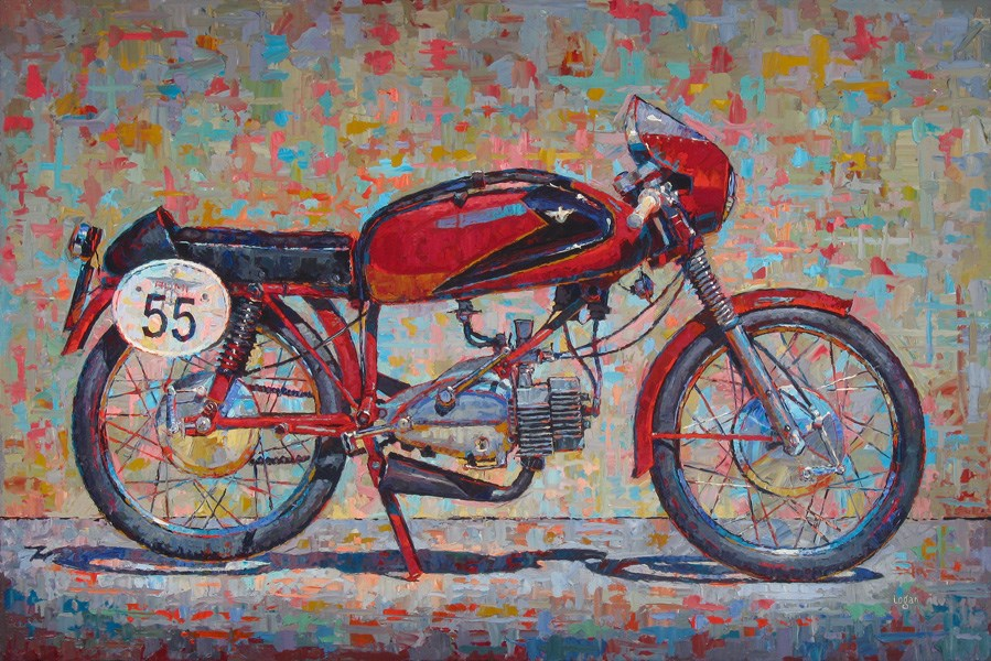 """John's '55 Rumi"" original fine art by Raymond Logan"