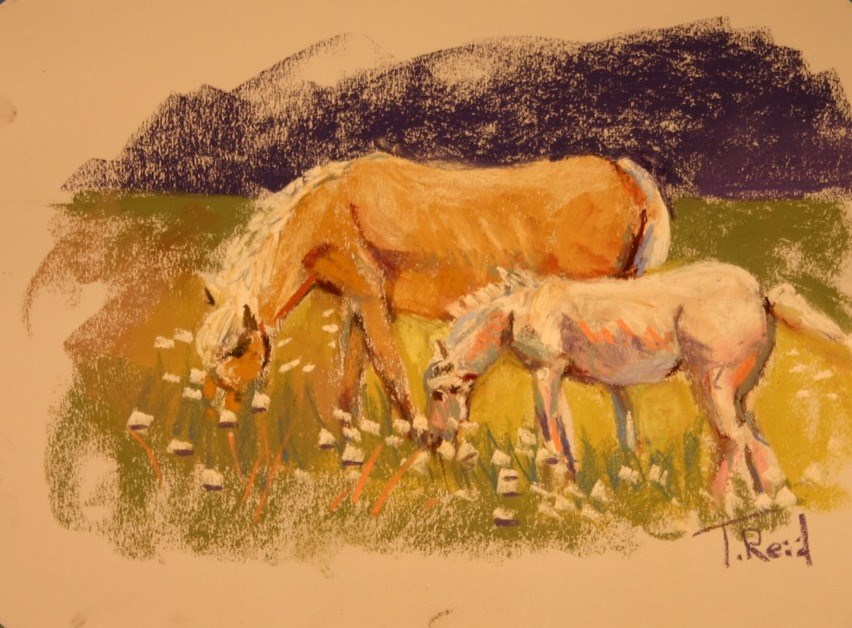 """Among the Wildflowers "" original fine art by Toby Reid"