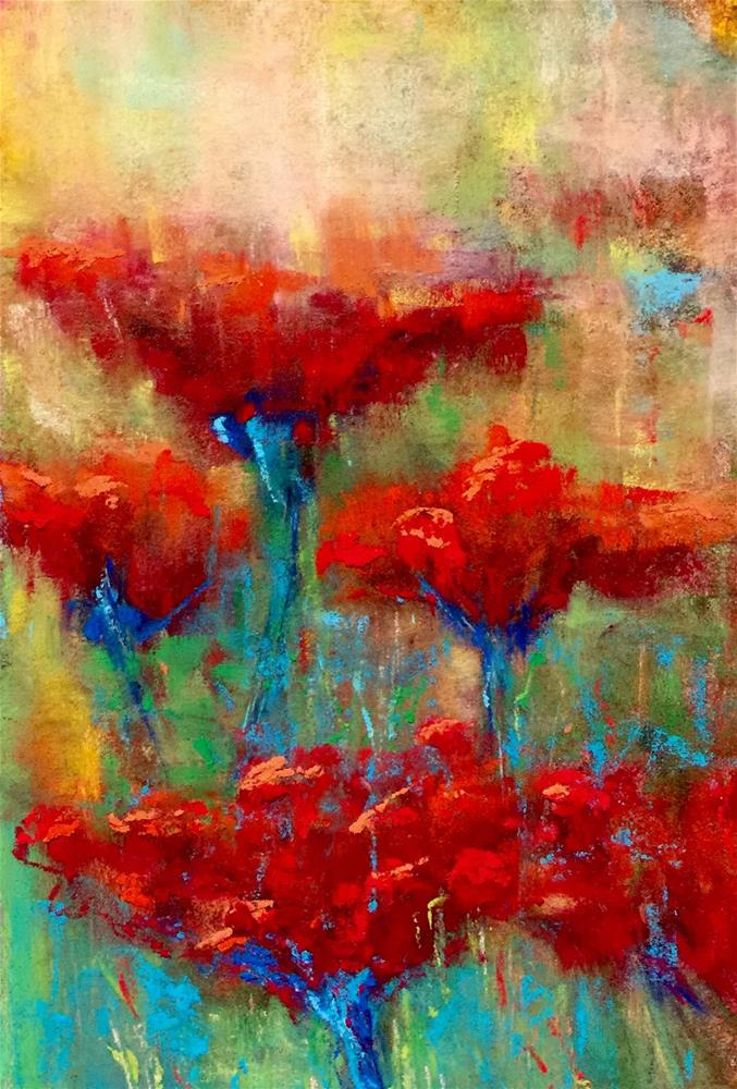 """Poppy Abstract "" original fine art by Donna Theresa"