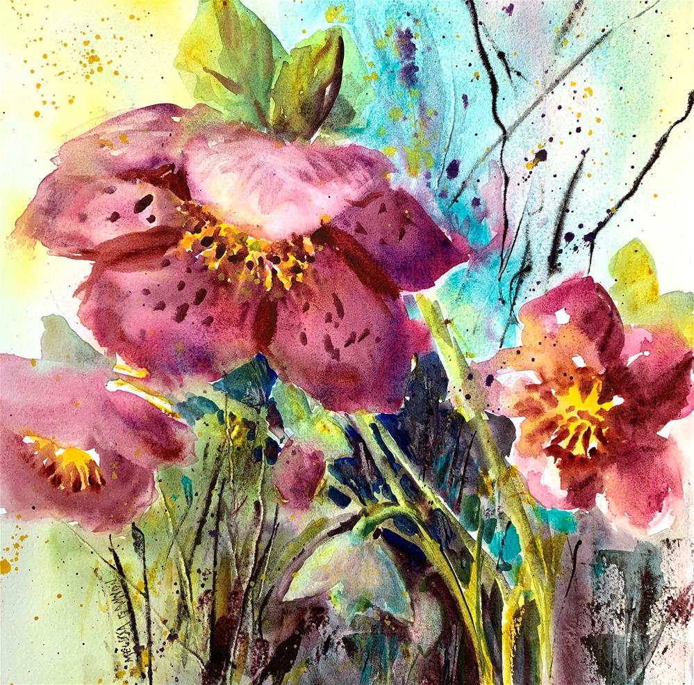 """Spring Party"" original fine art by Melissa Gannon"