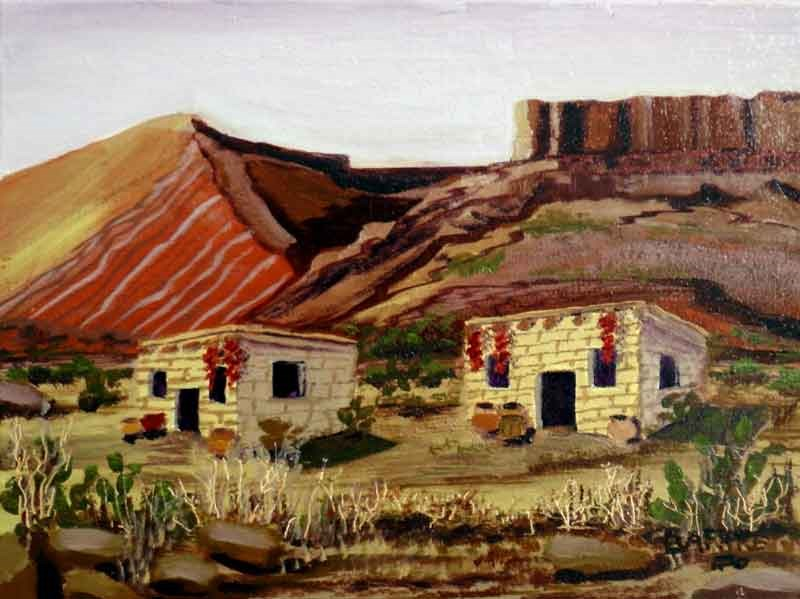 """Dos Adobes"" original fine art by Janice Bartke Thompson"