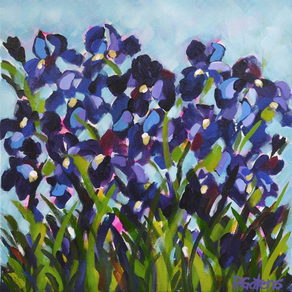 """A Patch of Blue"" original fine art by Pamela Gatens"