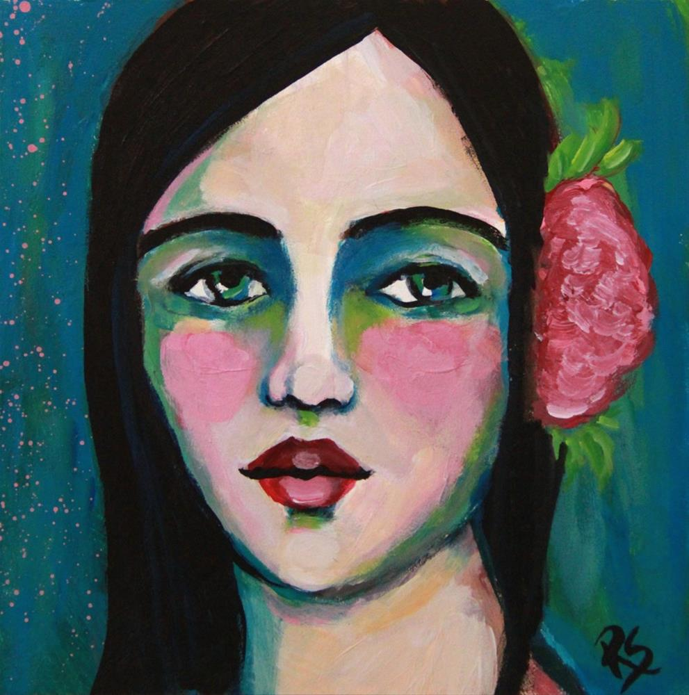 """""""Island Girl"""" original fine art by Roberta Schmidt ArtcyLucy"""