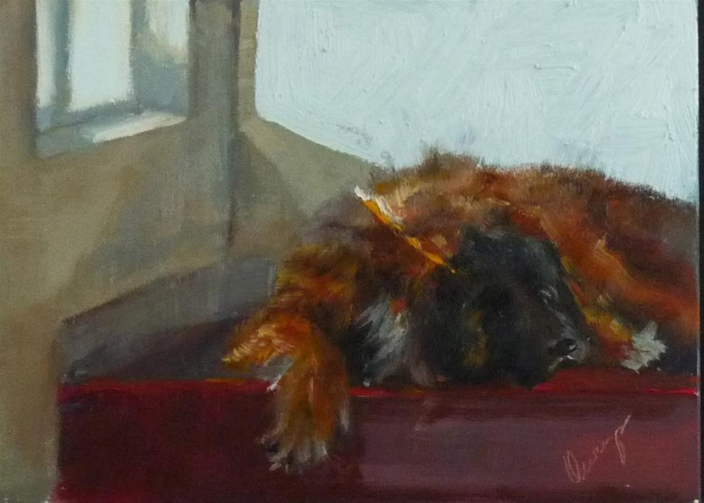 """Cat Watch"" original fine art by Sharman Owings"