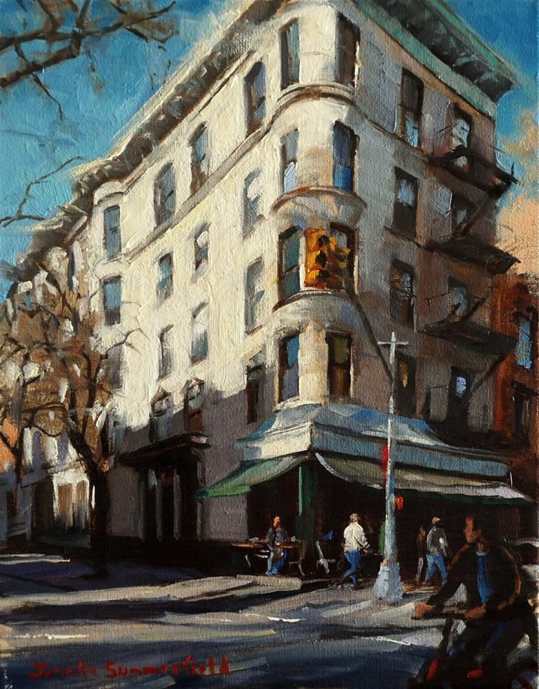 """""""Corner Bistro in the West Village"""" original fine art by Jonelle Summerfield"""