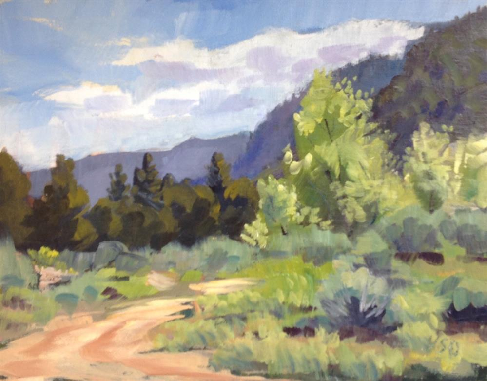 """""""Some Spring Greens"""" original fine art by Valerie Orlemann"""