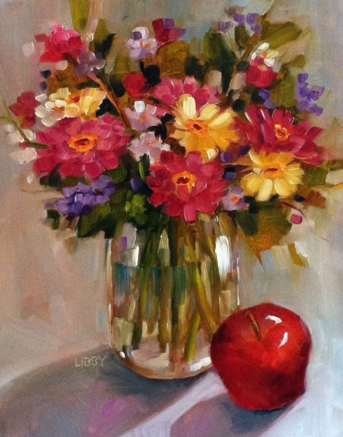 """""""An Apple a Day"""" original fine art by Libby Anderson"""