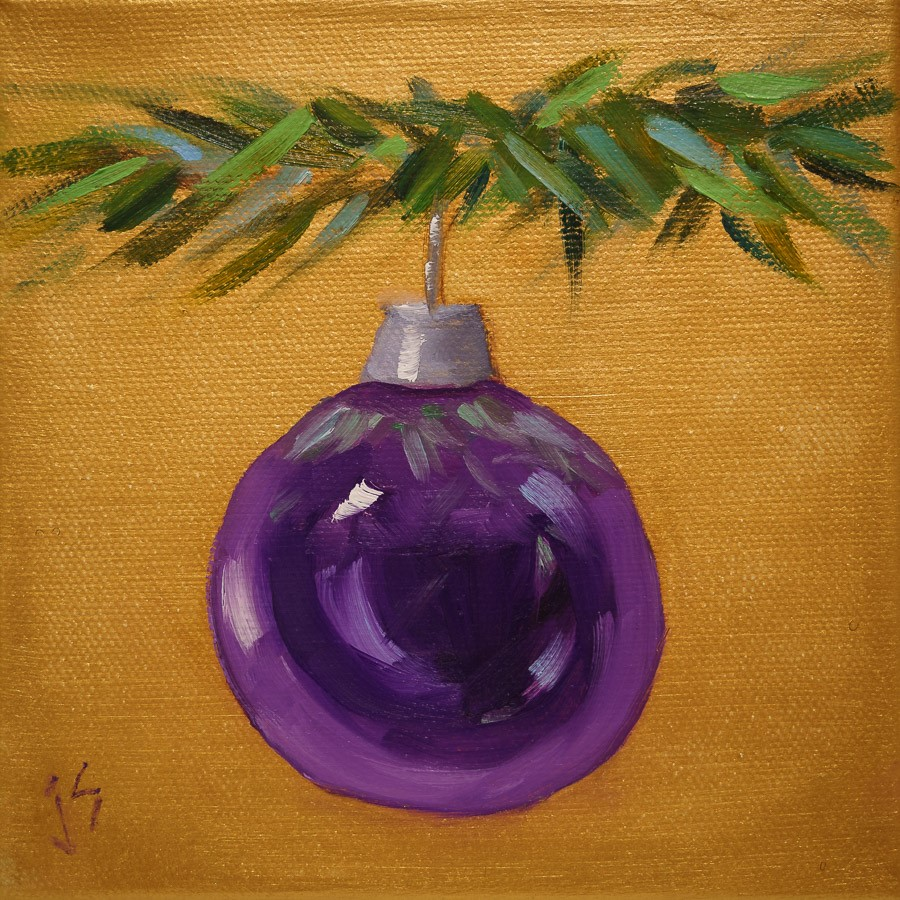 """Royal Purple Gallery Wrapped"" original fine art by Johnna Schelling"