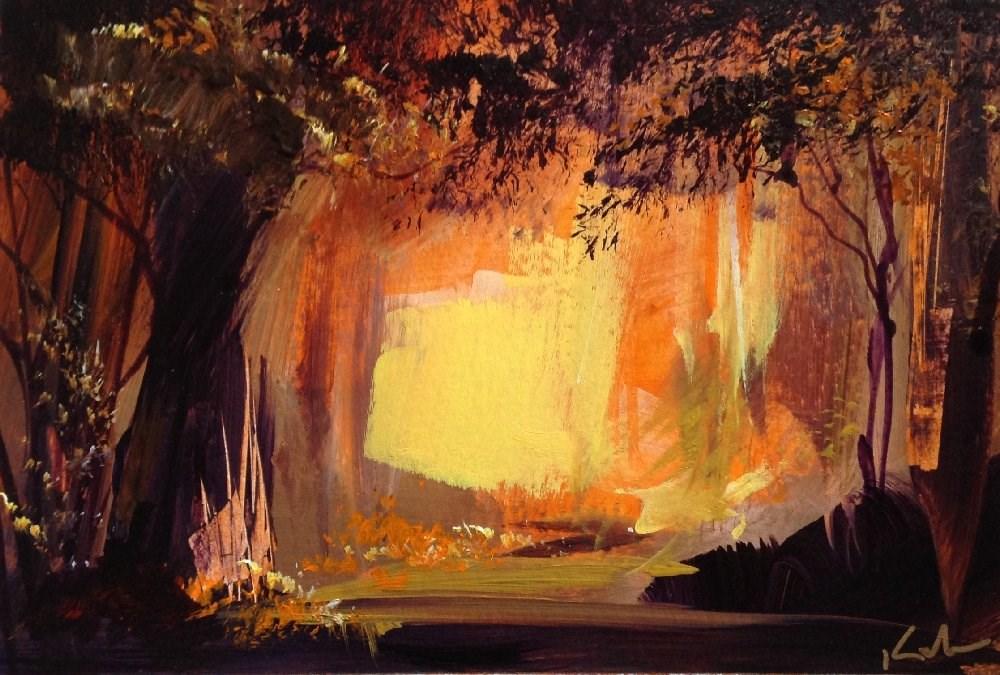 """""""Round the Patient Year"""" original fine art by David Kuhn"""