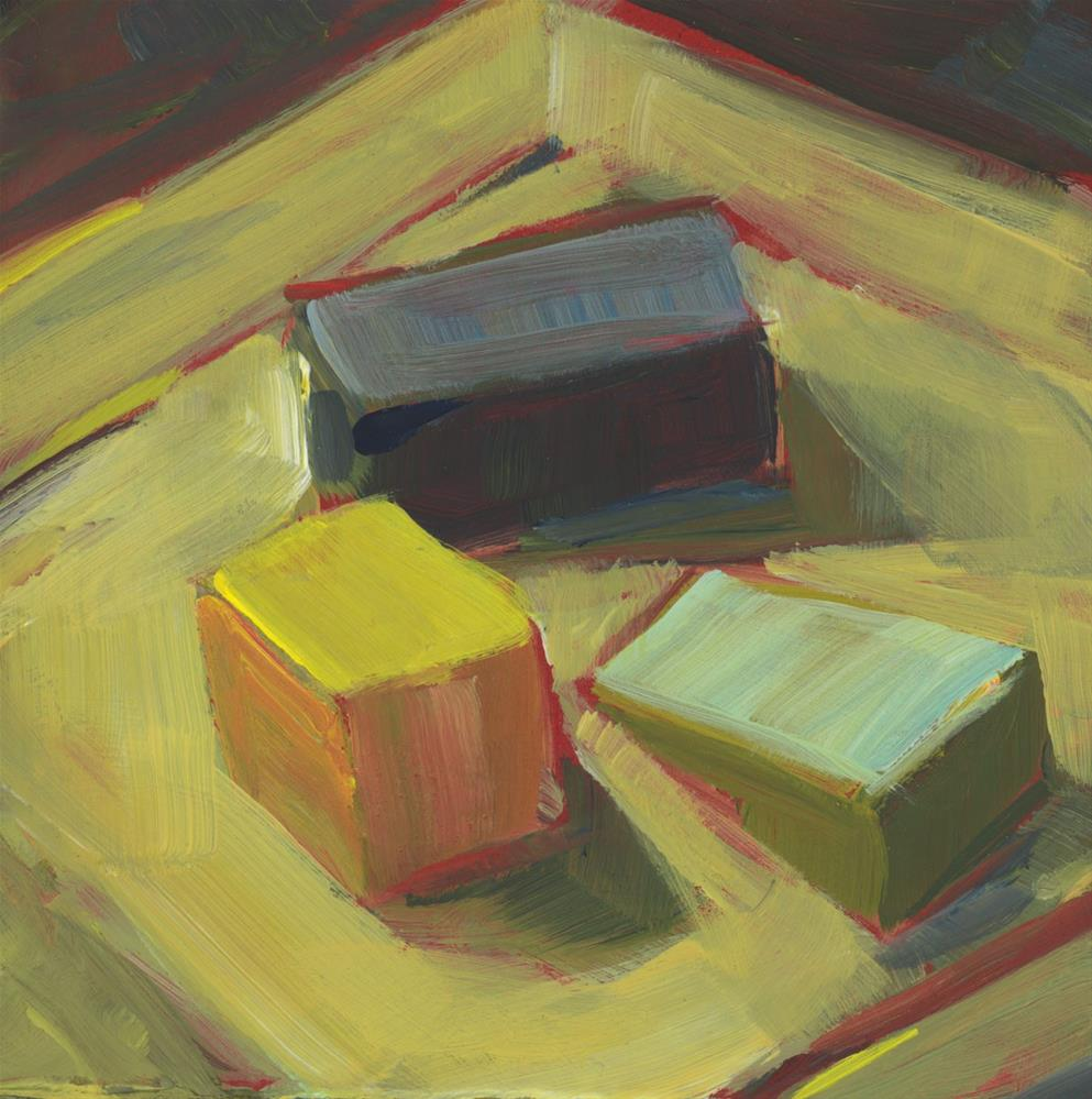 """1044: Playing with Blocks"" original fine art by Brian Miller"