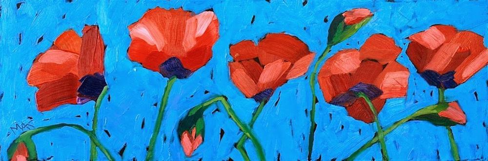 """""""Poppy Line"""" original fine art by Mary Anne Cary"""
