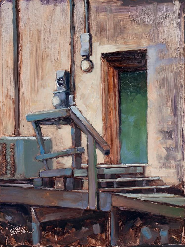 """The Green Door"" original fine art by Steve Miller"